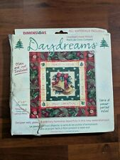 New Dimensions Daydreams Christmas Bells Cross Stitch Glass Mat Kit 72862