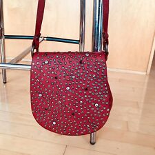 Campomaggi Red Leather Studded saddlebag purse, Anthropologie, $348 MSRP