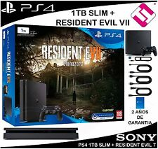 VIDEOCONSOLA SONY PS4 PLAYSTATION 4 1TB SLIM RESIDENT EVIL 7 OFERTA TOP VENTA