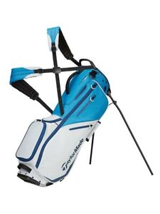 TaylorMade Flextech YD Stand Bag - Bright Blue/Titanium