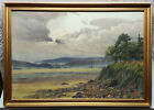 ISAAC COOKE (1846-1922), LARGE WATERCOLOUR PAINTING VIEW OF GRANGE OVER SANDS