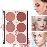 Face Makeup Cheek Blush Cream Matte Blusher Pressed Foundation Palette 6 Colors