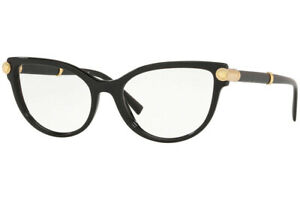 Versace CAT EYE Eyeglasses VE3270Q GB1 Black Frame W/ RX Demo Lens BRAND NEW