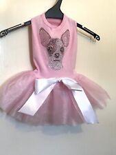 Dog Chihuahua Pink Tutu Dress Unique USA Designer Dog In The Closet