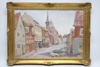 Aquarell Fränkisches Dorf Hauptstrasse 1972