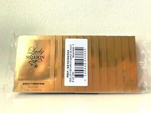 New & Sealed Paco Rabanne Lady Million Eau de Parfum 12 x 1.5ml Spray Samples
