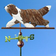 Bearded Collie Hand Carved Hand Painted Basswood Weathervane Brown
