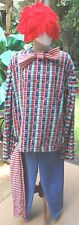XL Well Made 5Pc Red/Blue/White Raggedy Andy Costume w/Yarn Wig,Socks, BowTie