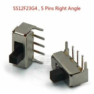 Microswitch 5 Pins Right Angle PCB Panel Horizontal Slide Switch 5mm Terminal