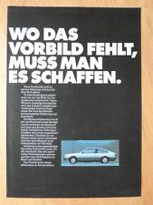 OPEL MONZA 1978 German Mkt Sales Brochure Prospekt