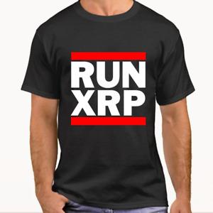 RUN XRP Ripple Cryptocurrency XRP t-shirt (Black)