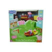 Peppa Pig Toy Grandpa Pig's Train & Track Set Train Set With 2 x Figure NEW