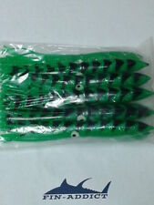 9 inch green mackerel squid offshore lure teaser tuna shell squids 9 inch 10pc