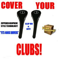 NEW DRIVER GOLF CLUB BLACK THICK HEADCOVER HEAD COVER FULL COMPLETE 1 3 WOOD SET