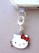 Hello Kitty cell phone Charm Dust proof  Plug ear jack For iPhone Smartphone C18
