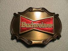 BUDWEISER BUD ANHEUSER BUSCH BREWERY IMAGE OF RED BOWTIE MENS BELT BUCKLE