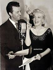MARILYN MONROE 2-SIDED PIN-UP POSTER WITH WENDELL NILES IN NBC STUDIO PHOTO!