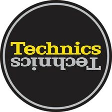 Technics Slipmat Duplex 4 Silver/Yellow Mirror on Black