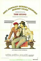 THE STING MOVIE POSTER Original Folded 27x41 ROBERT REDFORD PAUL NEWMAN
