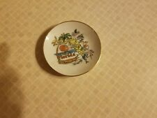 Vintage Collector's Mini Plate Of State of Florida Japan