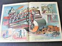 1881/82  The Evils of Convict Labor - Magazine Judge Centerfold Colored Art.