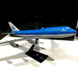 Long Prosper KLM 1/250 scale Boeing 747-400 Plastic model air plane Wooster fly