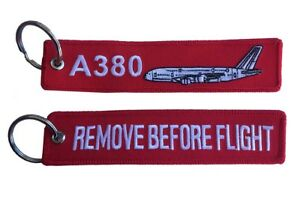 Airbus A380 Remove Remove Before Flight Key Ring Luggage Tag