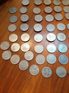Lot Of 64 Las Vegas $1 Gaming Coins / Tokens