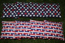 Cornhole Bean Bags Set of 8 Aca Regulation Bags Us Patriotic Red White Blue