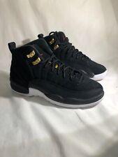 Nike Air Jordan 12 Retro GS Black Reverse Taxi White 153265-017 Youth Size 4.5Y