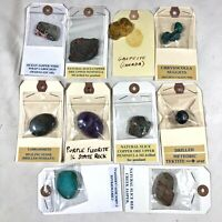 10 Collectible Rocks Minerals Crystals Specimens - From 1960's Collection Old
