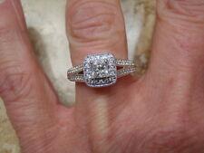 VERA WANG LOVE COLLECTION 3/4 CTW  PRINCESS DIAMOND ENGAGEMENT RING 2499. SZ 6.5