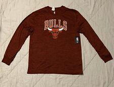 Chicago Bulls Official NBA Jersey Red Long Sleeve Shirt Men's Size XL NEW NWT