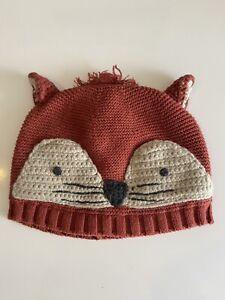 Baby Boy 12-18 Months Fox Winter Hat Next