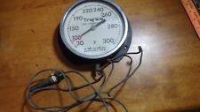 ANTIQUE STEAM BOILER GAUGE  TRERICE DIAL THERMOMETER   .D. FREDRICKS CO  GAUGE