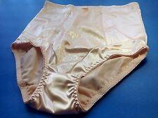 Women Panties,Briefs,Control Panties Ann Diane Size 4XL Beige Satin W/2 Pockets