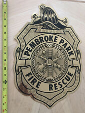 PEMBROKE PARK FLORIDA  FIRE AND RESCUE CAR DOOR SHIELD DECAL FL