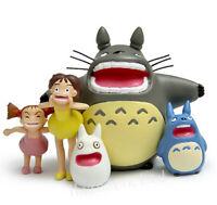 5pcs/Set Studio Ghibli My Neighbor Totoro Classic Resin Figure Toy Home Decor