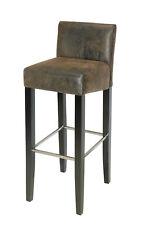 SixBros. Tabouret de bar bois de hêtre Massif Wengé/brun BAR-01-WW/2085