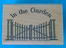 """Tin Can Mail by Inkadinkado """"IN THE GARDEN"""" rubber stamp, 1¾"""" x 2½"""" wood block"""