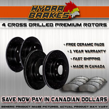 FITS 2005 2006 2007 FORD FREESTYLE Drilled Brake Rotors CERAMIC BLK