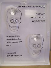 Day of the Dead Medium Flat Back Sugar Skull Chocolate Candy Mold