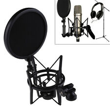 Professional Microphone Mic Shock Mount Holder with Shield Filter Screen