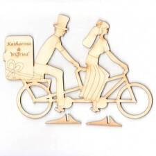 Tandem Braut Bräutigam Geschenk Hochzeit Geburtstag eigene Gravur 20cm aus Holz