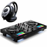 Hercules DJControl Inpulse 500 2-Deck DJ Controller + keepdrum Kopfhörer