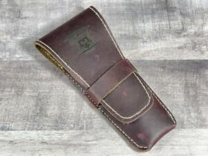 Brown Genuine Leather Double Edge Safety Razor Protective Travel Case Pouch Gift