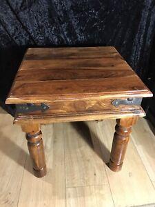 Maharajah Indian Rosewood Jali Sheesham Thacket Coffee Table - 45cm x 45cm