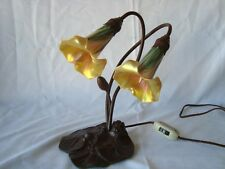 LUNDBERG STUDIOS Art Glass Accent Table or Desk Lamp