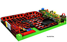 10,000 sqft Commercial Trampoline Park Dodgeball Climb Gym Inflatable We Finance
