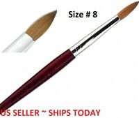 100% Pure  Kolinsky Acrylic Round Nail Brush Size 8 Top Quality by Jargod